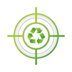 recycle target sign concept illustration design