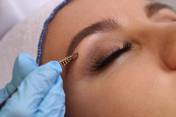 Professional eyebrow correction