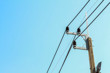 electrical pole with insulator