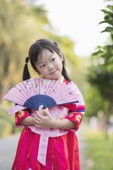 Korean child wearing a Traditional Hanbok