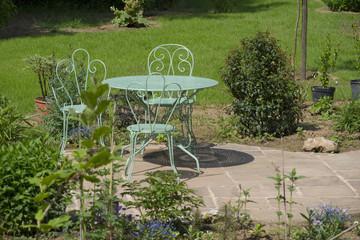 Garden table metal