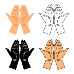 God pray blessed hands icons