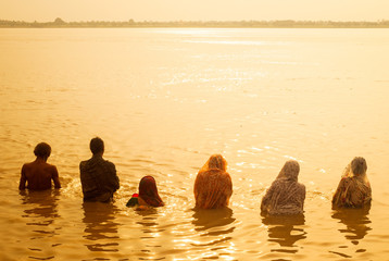 Morning bath in the Ganges, Varanasi