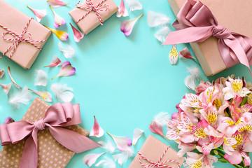 Romantic celebration card concept