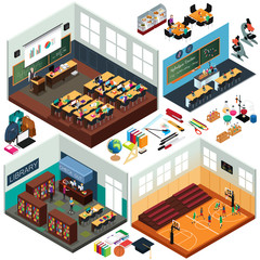 Isometric Design of School Buildings and Classrooms