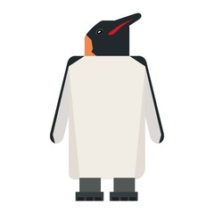 Isolated abstract penguin on a white background, Vector illustration