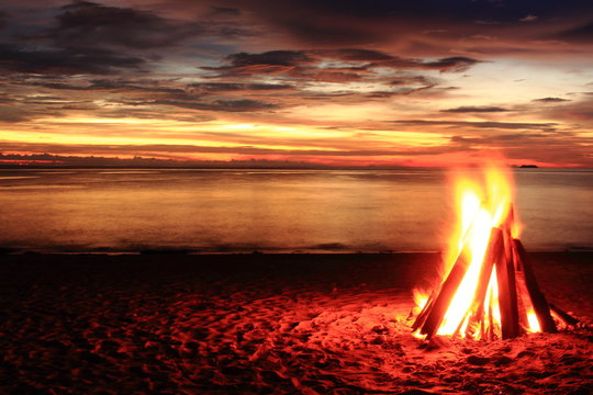 feu plage