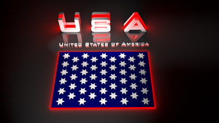 USA  in 3d illustration