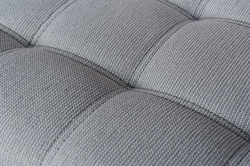 Texture fabric gray sofa with firmware