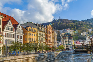 Tepla river in Karlovy Vary, Czech republic