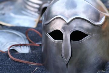 Knight helmet in Corinthian style