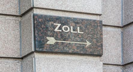 Schild 204 - Zoll