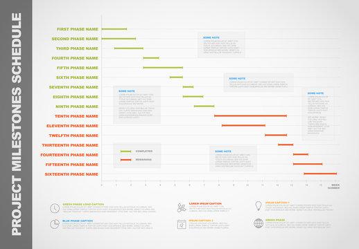Horizontal Timeline Chart Infographic 2