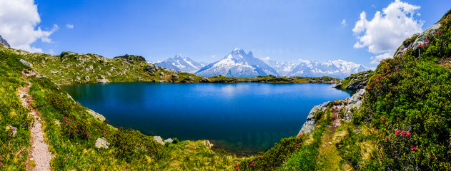 Mont Blanc and lake