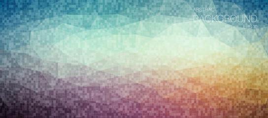 horizontal pixelated mosaic background