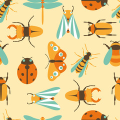Vector illustration of insects icons collection