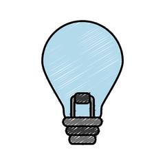 light bulb icon over white background vector illustration