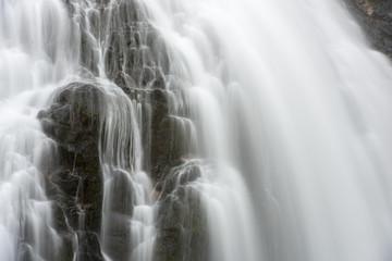 Abstract Waterfall closeup long exposure
