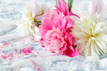 Light pink double Peonies