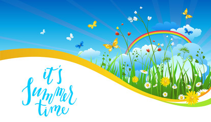 Blue sky season banner