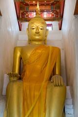 Ancient Golden Buddha in Suphan Buri, Thailand