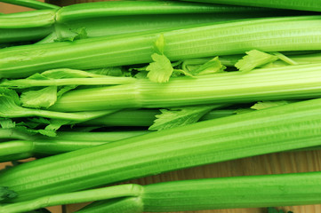 close up on fresh celery