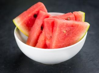 Slate slab with Watermelon