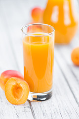 Apricot Juice (selective focus, close-up shot)