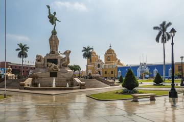 Main Square (Plaza de Armas) and Cathedral - Trujillo, Peru