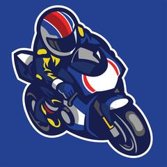 Cartoon style of sportbike motorcycle