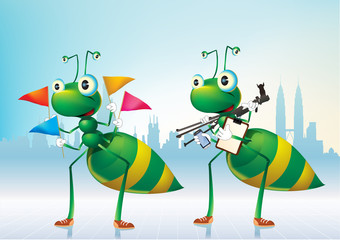 greens ants