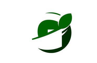 G Green Circle Swoosh Letter Logo