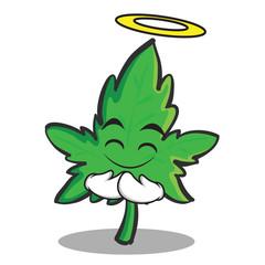 Innocent face marijuana character cartoon