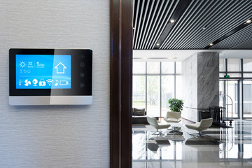 smart screen with spacious hall