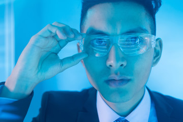 businessman with tech concept