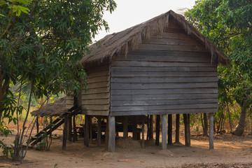 Wooden house in Cambodia