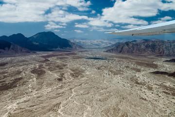 Aerial view of landscape around Nazca town, Peru