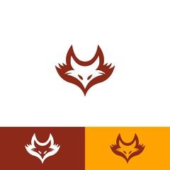 Flames Fox Head Logo Illustration