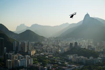 Aluminium Prints Rio de Janeiro Landscape photo over Rio de Janeiro city, Brazil, taken from Sugar Loaf Mountain
