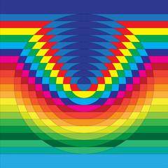 Optical illusion, abstract geometric design element.