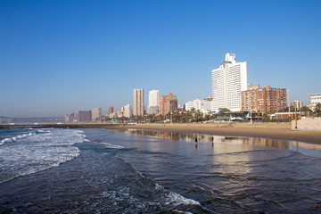 City Coastal Skyline in Durban South Africa