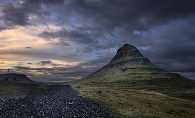Kirkjufell mountain at Dusk