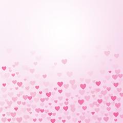 Heart pattern on gradient pink background, valentine card concept background