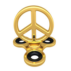 Peace Symbol On A Fidget Spinner 3D Illustration
