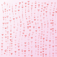 Valentine concept background of heart on pink background