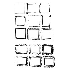 hand draw frame icon