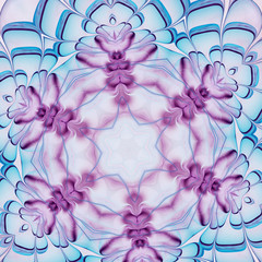 Colorful fractal flower, digital art design, abstract illustrati