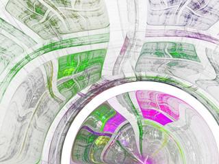 Light green and purple fractal texture, digital artwork for creative graphic design