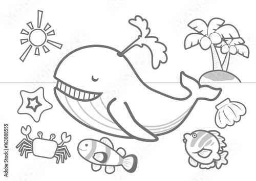 夏の海ぬりえfotoliacom の ストック画像とロイヤリティフリーの