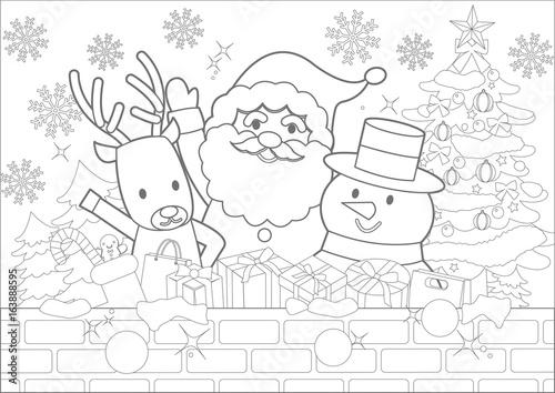 クリスマスぬりえfotoliacom の ストック画像とロイヤリティフリーの